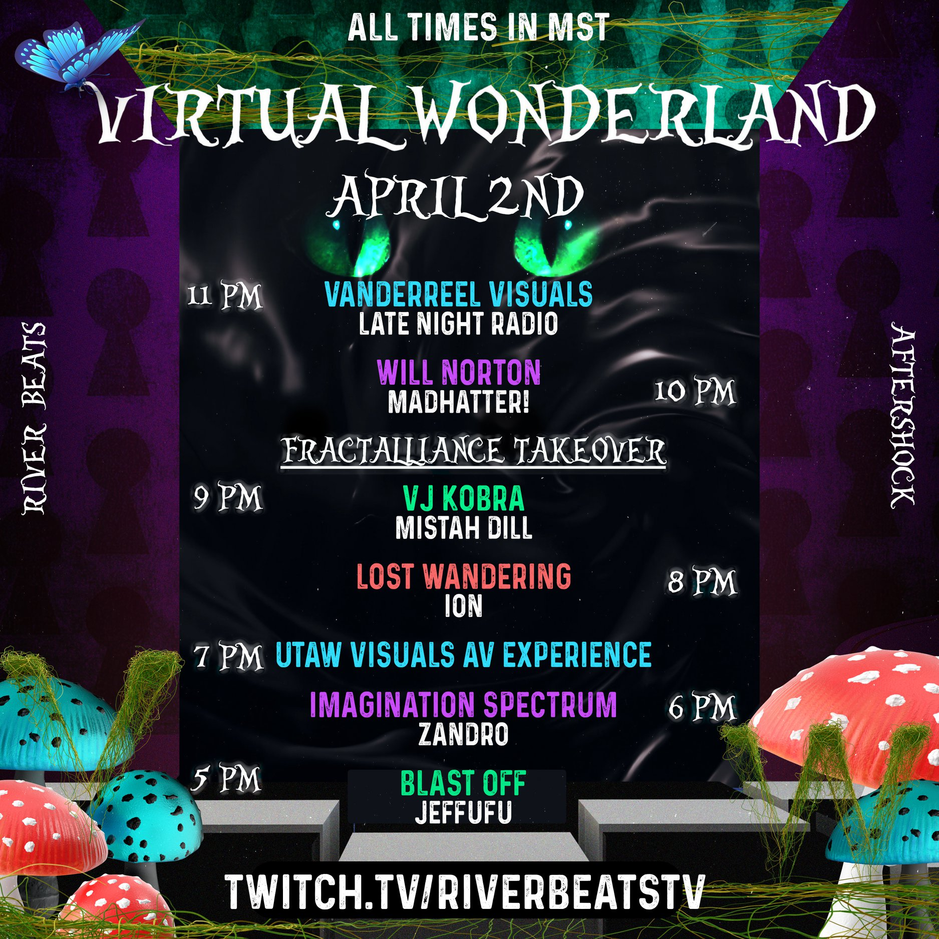 Virtual Wonderland presented by AfterShock and River Beats